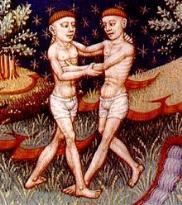 Gemelli ( Gemini ) rappresentato in un libro di astrologia del XV secolo