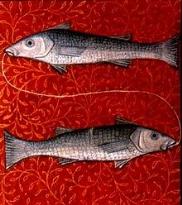 Pesci ( Pisces) rappresentato in un libro di astrologia del XV secolo