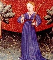 Vergine ( Virgo ) rappresentato in un libro di astrologia del XV secolo